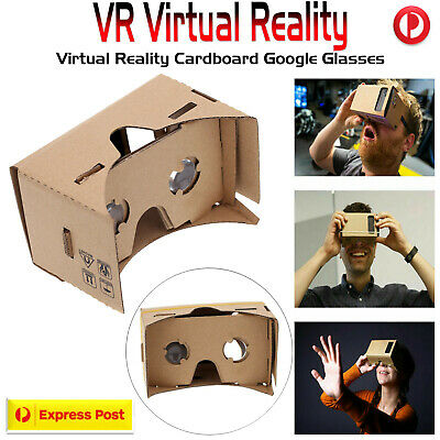 3D VR Google Virtual Reality Cardboard Glasses for iPhone 5s 6 7 Galaxy S5 S6 S7
