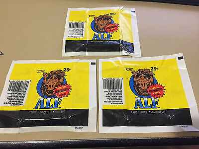 Alf Series 1 - 10x Wax Pack Card Wrapper LOT - 1987 TOPPS - NO TEARS !!!