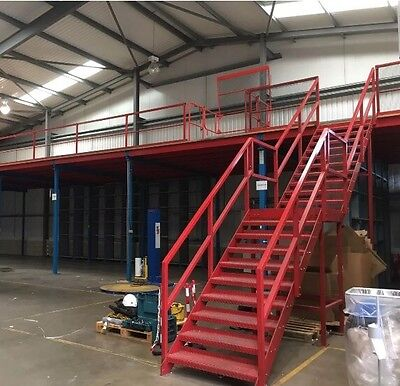 3.5 X 6 X 5 Mtr Mezzanine Floor With Boarding No Stairs Top Quality Dextron