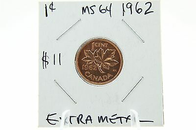 Canada 1 Cent Penny Collection - 1962 Mint State Fillings on Die - ERROR