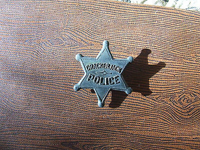 VINTAGE 1930's Cracker Jack Police Badge Old Prize