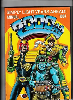 2000Ad Annual 1987 In Near Mint Condition Not Price Clipped With Judge Dredd