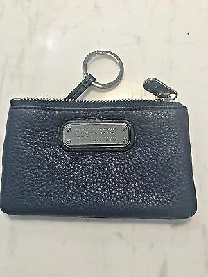 Marc by Marc Jacobs New Q  Wristlet Key Ring Zip Pouch NWT Retail $125 Dark Blue