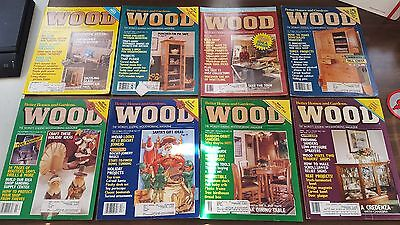 32 Issues of WOOD Magazine. (1992-1995) Plans Prints Crafts Diagrams & Projects!