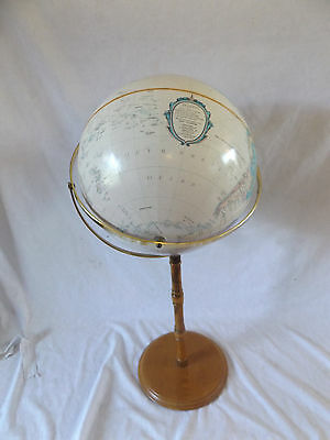 "Replogle LARGE 16"" World Globe Classic with Wood and Brass Base Stand - USA Made"