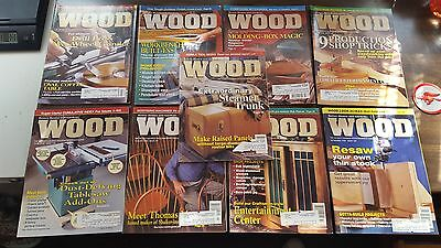 10 Issues of WOOD Magazine (Complete 1998 Volume) Plans Prints Crafts & Projects