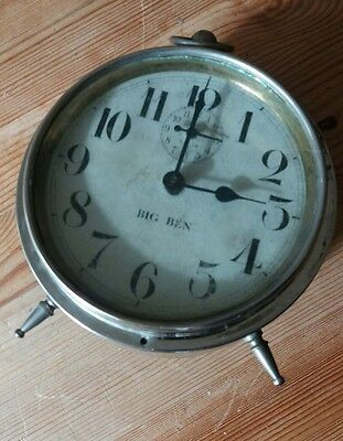 Antique American Westclox Big Ben Alarm Clock 1910- 1918