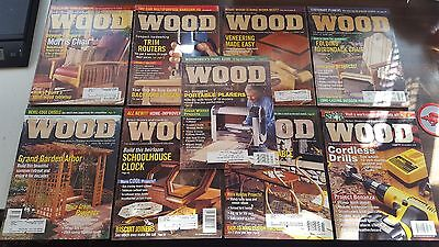 9 Issues of WOOD Magazine (Complete 1999 Volume) Plans Prints Crafts & Projects!