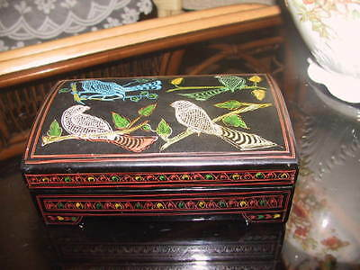Collectable hand painted Chinese lacquered box