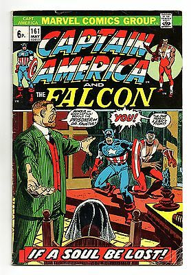 Captain America Vol 1 No 161 May 1973 (FN-) Marvel, Bronze Age (1970 - 1979)