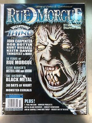 Rue Morgue Magazine # 72 10th Anniversary Halloween Special The Thing