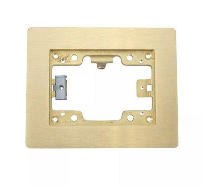 Hubbell Systems Sb3083W Brass Single Gang Floor Box Flange