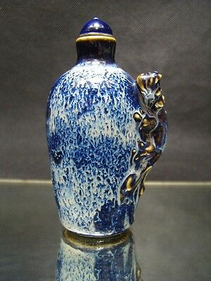 China Handwork Painting Blue And White Porcelain Snuff Bottles        1