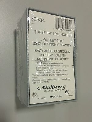Mulberry 30584 Deep 1-Gang Weatherproof Box, 2-5/8 Inch Depth, Gray