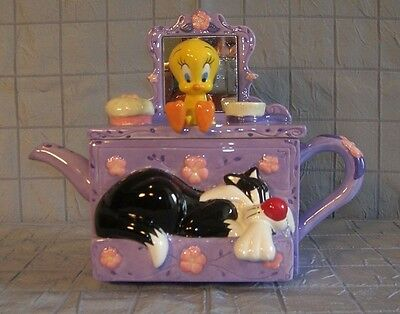 Sylvester And Tweety Collectible Teapot Warner Bros. Studio Store
