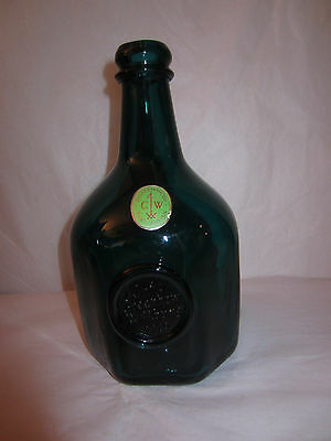 Turquoise Open Pontil Octagon Blown Bottle Colonial Williamsburg Jn Greenhow