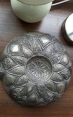Antique Silver Turkish  Ottoman bath Bowl 19th century with Tughra Mark.