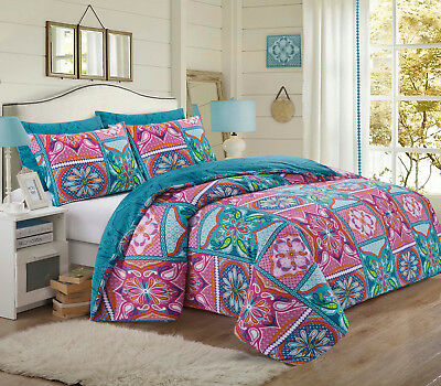 Duvet Cover Set with Pillow Cases Polycotton Quilt Cover Bedding Set All Sizes