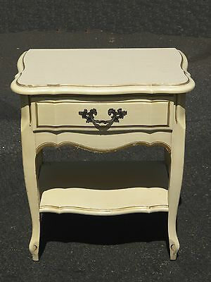 Vintage French Provincial Creme w Gold Trim NIGHTSTAND
