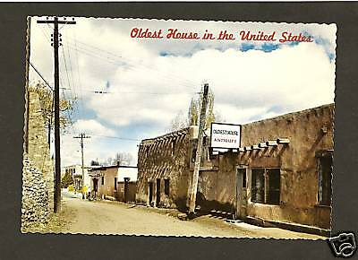 SANTA FE NM Oldest House In The U S A  Postcard - New Mexico