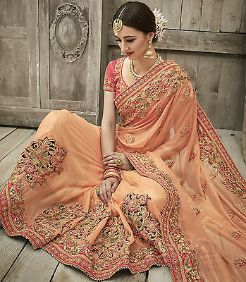 Designer Saree Sari Traditional Indian Bollywood Party Evening Bridal Ethnic
