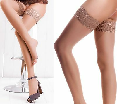 Size L Toeless Sheer Thigh Highs Stockings Nylons Silicone Band Hosiery