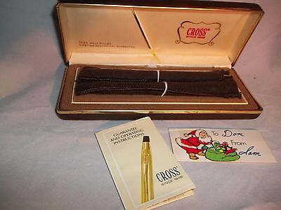 Vintage 70's CROSS 1/20 14K Gold Filled PEN & PENCIL SET in Box
