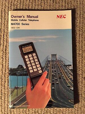 Owner's Manual ONLY Mobile Cellular Telephone 4700 Series NEC Corporation 1989