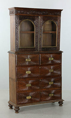 Early 20th C. China Trade Bookcase Lot 8385