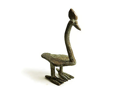 Rare Antique African Bronze Ashanti Gold Weight a Bird 4