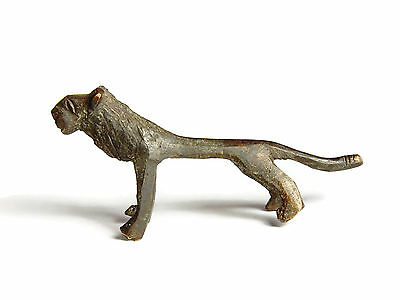 Rare African Antique Cast Bronze Akan Ashanti Gold Weight - a lion