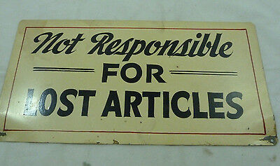 "Antique Metal  LOST ARTICLES Sign 12"" x 6"""