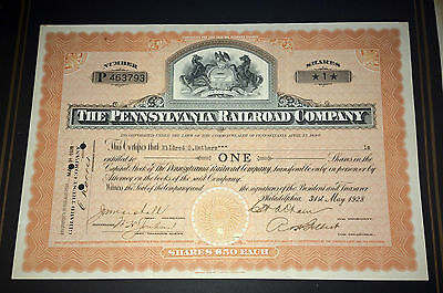 THE PENNSYLVANIA RAILROAD COMPANY 1928  Share Certificate