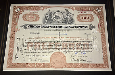 CHICAGO GREAT WESTERN RAILWAY COMPANY 1967  Share Certificate