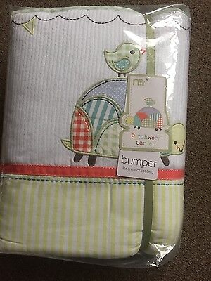 NEW Mothercare Patchwork Garden range bumper for a cot/cot bed