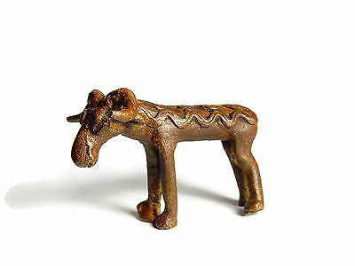 Rare Antique African Bronze Ashanti Gold Weight a ram 3