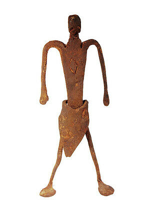 Extremely Rare African Tribal Antique Dogon Hand Forged Iron Figure #1