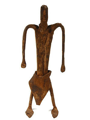Extremely Rare African Tribal Antique Dogon Hand Forged Iron Figure #2