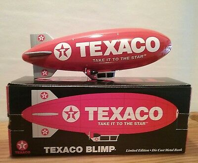 Texaco Blimp Die Cast Coin Metal Bank Limited Edition New
