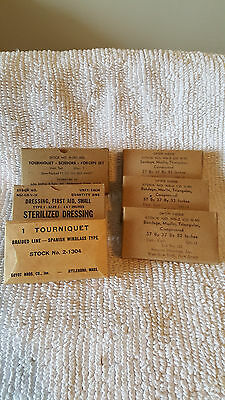 WWII GI ISSUE FIRST AID ITEMS (Lot of 6 Items)