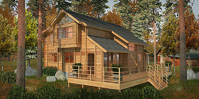 Pan Abode Western Red Cedar Log Home Kit