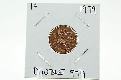 Canada 1 Cent Penny Collection - 1979 Mint State Double 979 - ERROR