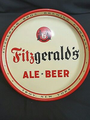 Vintage FITZGERALD'S ALE BEER SERVING TRAY Fitzgerald Bros Brewing Troy New York