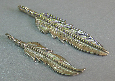 Vintage Sterling Silver Lot of Feather Charms or Pendants