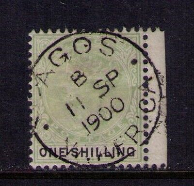 LAGOS Stamps Sc#32 ,SG#38 1887 1sh grn & blk QVIC Used Cat.$27