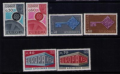 Andorra Stamps ,europa Issue Sc#179-80;188-9;194-5 Mnh/mlh Cat.$100