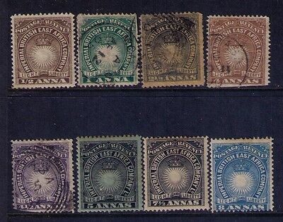 British East Africa Stamp SC# 14/23 Selection MH/Used Cat.$50