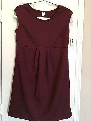 NWT Old Navy Burgundy Maternity Dress Sz Small