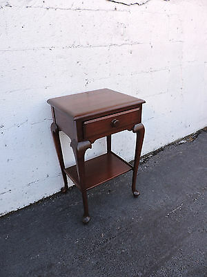 Solid Mahogany Queen Ann Legs End Side Table by The Georgetown Galleries 8001