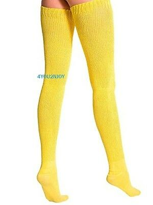 American Apparel Thigh High Socks Yellow Gold New in Package Over The Knee NWT